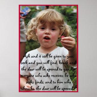 Geschenk eines Kindes Poster