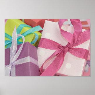 Geschenk eingewickelte Geschenke Poster