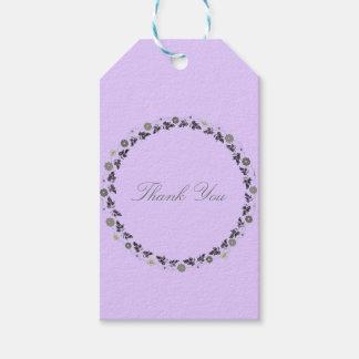 Geschenk etikettiert Lavendel-Schablone Geschenkanhänger
