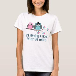 Geschenk für 28. Hochzeitstag-Schrei T-Shirt