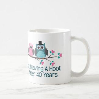 Geschenk für 40. Hochzeitstag-Schrei Kaffeetasse