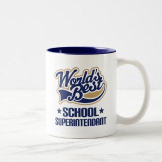 Geschenk-Idee für Schulinspektor (Welten am Zweifarbige Tasse
