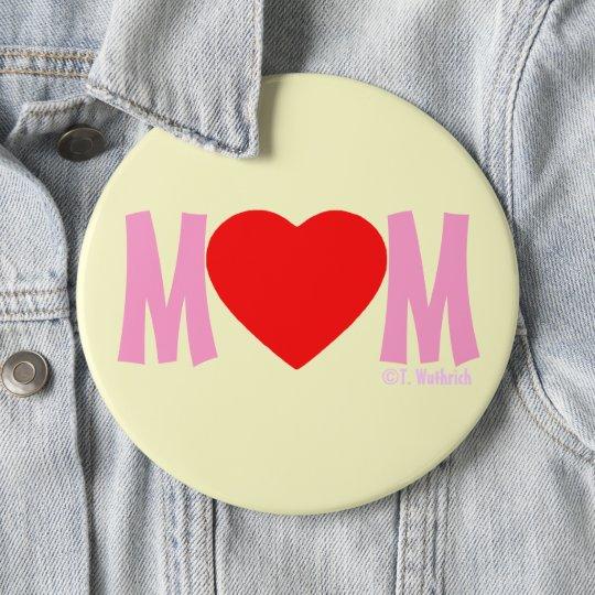 Geschenk-Knopf der MAMMA Liebe-Mutter Tages Runder Button 15,3 Cm
