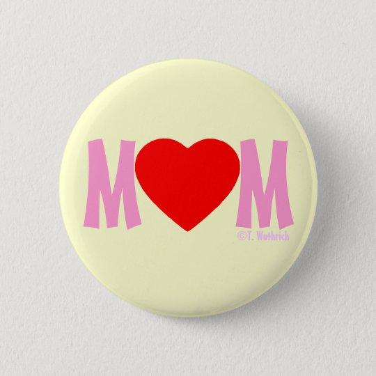 Geschenk-Knopf der MAMMA Liebe-Mutter Tages Runder Button 5,7 Cm