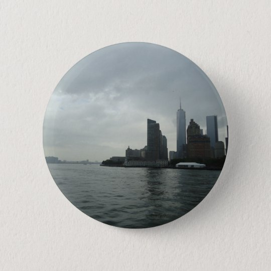 Geschenk New York Manhattan der Hudson Runder Button 5,1 Cm