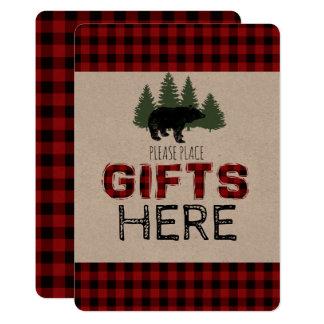 Geschenk-Tabellen-Zeichen - Holzfäller-Party 12,7 X 17,8 Cm Einladungskarte