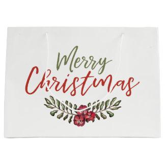Geschenk-Tasche des WeihnachtsblumenKranz-  Große Geschenktüte