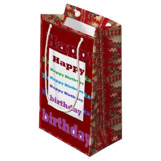 Geschenk-Tasche Goodluck HappyBirthday Kleine Geschenktüte