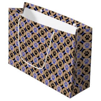 Geschenk-Tasche (Kobalt) Tatze-für-Geben Große Geschenktüte