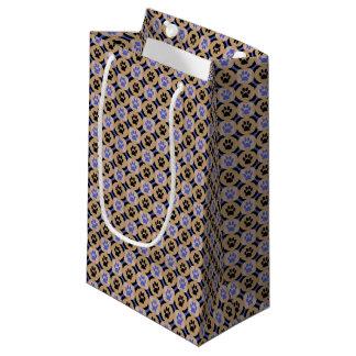 Geschenk-Tasche (Kobalt) Tatze-für-Geben Kleine Geschenktüte