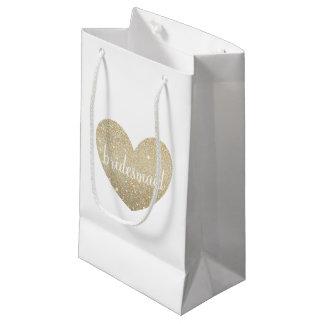 Geschenk-Tasche - tolle Brautjungfer des Herzens Kleine Geschenktüte