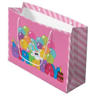 Geschenk-Taschenmädchen des alles- Gute zum Große Geschenktüte