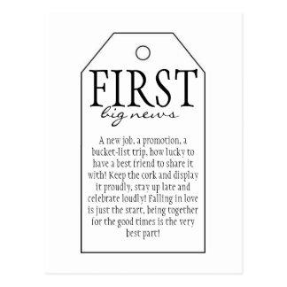 Geschenk-Umbau für Wein-Flasche - erste gute Postkarte