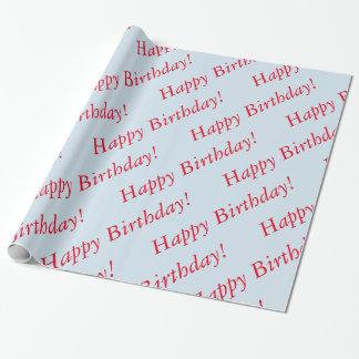 Geschenk-Verpackung - alles Gute zum Geburtstag Geschenkpapier