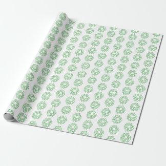 Geschenk-Verpackung - grüne WeihnachtsKränze Geschenkpapier