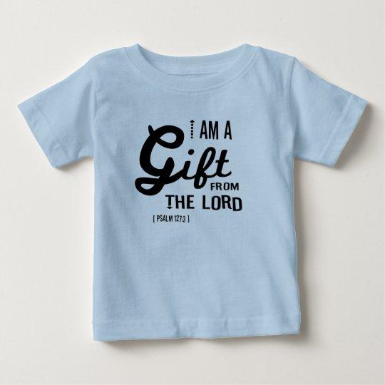 Geschenk vom Lord, schwarzer Schriftart Baby T-shirt