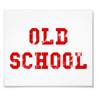 Geschenke des alte SchulFoto-Druck-| Oldskool Fotodruck