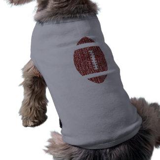Geschenke des amerikanischen Fußballs Ärmelfreies Hunde-Shirt