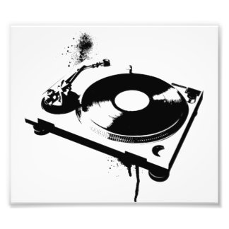 Geschenke des Diskjockey DJ-Turntable-Foto-Druck-| Fotodruck