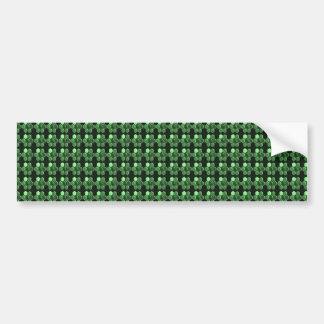 Geschenke des Schein-Hexagon-Smaragdgrün-Musters Autoaufkleber