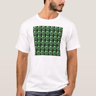 Geschenke des Schein-Hexagon-Smaragdgrün-Musters T-Shirt