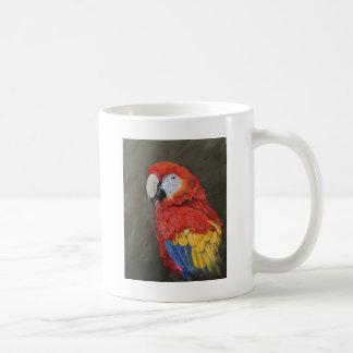 Geschenke für den Papageienliebhaber. Scharlachrot Kaffeetasse
