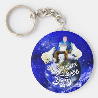 Geschenke für den Vatertag oder den seinen Standard Runder Schlüsselanhänger