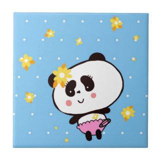 Geschenke für Mädchen-die niedlichen Panda-Bären Fliese
