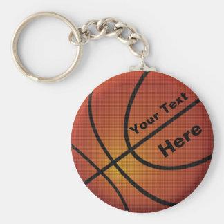 Geschenke für Trainer-Basketball Keychains Standard Runder Schlüsselanhänger