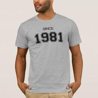 Geschenkidee des Geburtstages 1981 T-Shirt