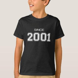 Geschenkidee des Geburtstages 2001 T-Shirt