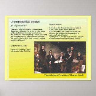 Geschichte, Amerika, Lincolns politische Politik Plakatdruck