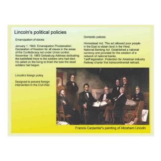 Geschichte, Amerika, Lincolns politische Politik Postkarten