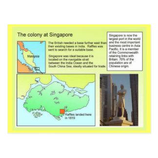 Geschichte, Kolonie in Singapur Postkarte