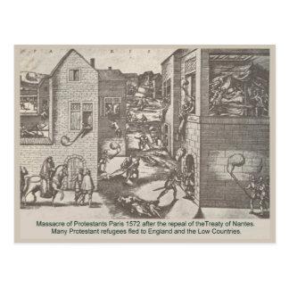 Geschichte, Paris, Massaker von Protestanten 1572 Postkarte