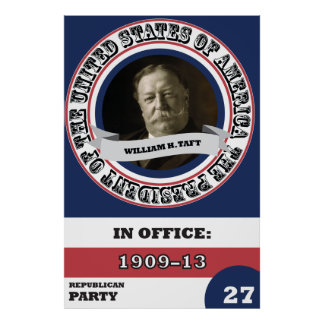 Geschichte Williams H. Taft Presidential Retro Poster