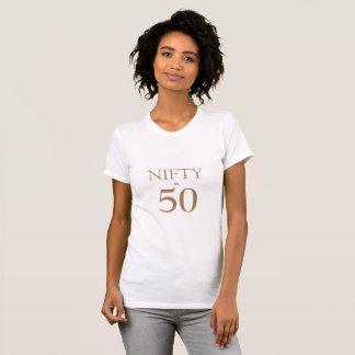 Geschickt u. fünfzig!  50. Geburtstags-T - Shirt