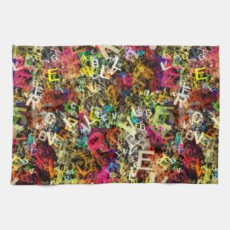 Geschirrtücher der Alphabet-Kunst-1