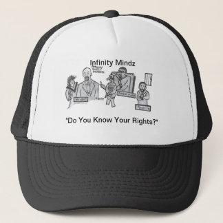 """Geschlagenes D """"kennen Sie Ihre Rechte?"""" Anzeige Truckerkappe"""