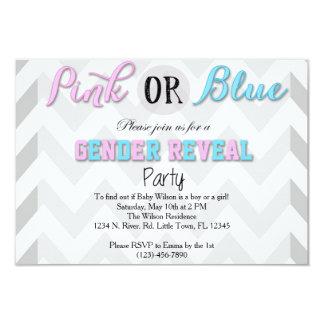 Geschlecht decken Party auf 8,9 X 12,7 Cm Einladungskarte
