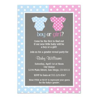 Geschlecht decken Party-Baby-Duschen-Einladungen 12,7 X 17,8 Cm Einladungskarte