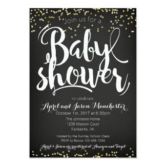 Geschlechtneutrale Confetti-Babyparty-Einladung Karte