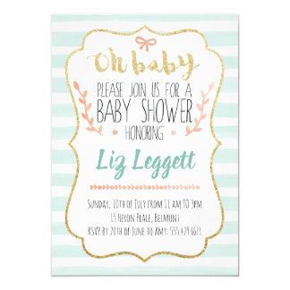 Geschlechts-neutrale Babyparty-Einladung Einladung