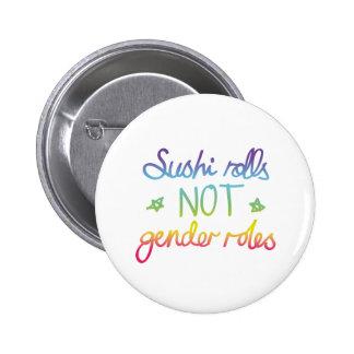 Geschlechts-Rollen SushiRolls nicht Runder Button 5,1 Cm