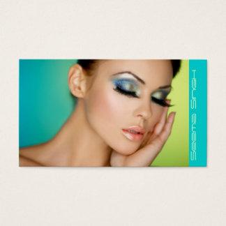 Geschlossenes Augenmake-up Visitenkarte