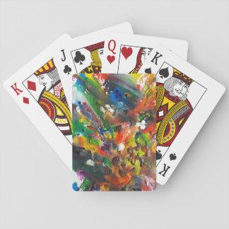 Geschmolzene Zeichenstift-Kunst-Spielkarten Spielkarten