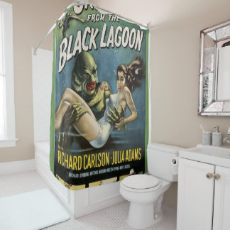 Geschöpf von der schwarzen Lagune Duschvorhang