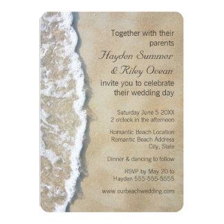 Geschrieben in die Sand-Strand-Hochzeits-Einladung 12,7 X 17,8 Cm Einladungskarte