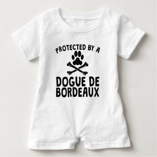 Geschützt durch Dogue de Bordeaux Baby Strampler