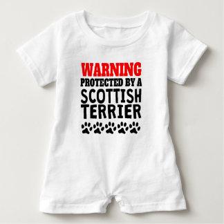 Geschützt durch schottisches Terrier Baby Strampler